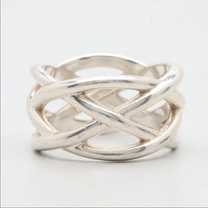 Tiffany & Co. sterling Celtic knot weave ring.